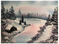 Bob Ross online Painting Class